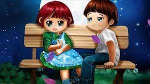 Love Couple Cartoon Wallpapers - Top ...