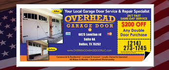 overhead garage door specials from the dallas team