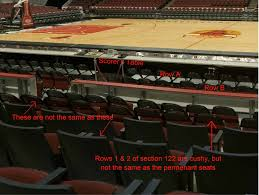 Genuine United Center Seating Chart Rows Seat Numbers