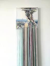 Moderne Schilderij Eclectische Woonkamer Glitch Art Fiber Etsy