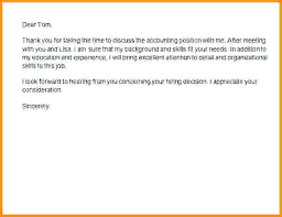 Ideas Of Thanks Letter After Interview Nice Examples Of Thank You