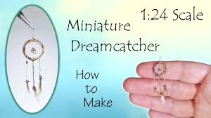 What Is A Dream Catcher Supposed To Do Miniature Dreamcatcher Tutorial handwoven Dollhouse How to 52