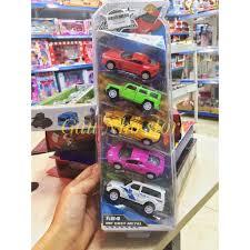 Vỉ 5 ô tô đồ chơi bằng sắt cho bé chính hãng