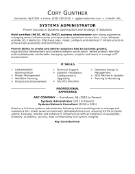Linux Systemministrator Resume Sample For Fresher India System
