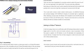 How To Reset Z Wave Light Switch Pan03 Smart Energy In Wall Switch User Manual Bh002 Rf On