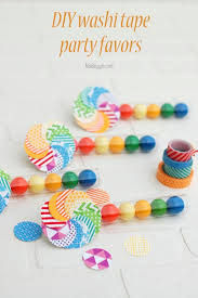 DIY washi tape party favors | NoBiggie.net | these would be so fun for