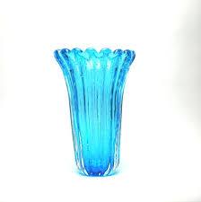 venetian glass vase glass dynasty vase aqua venetian glass vase vintage