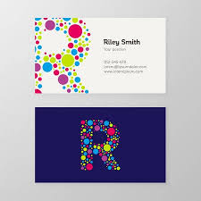 Membership Card Template Magnificent Modern Letter R Circle Colorful Business Card Template Vector