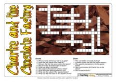 charlie and the chocolate factory teaching ideas charlie and the chocolate factory crossword