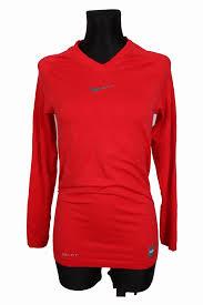 Details About Nike Pro Combat Womens Sweatshirt V Neck Red L