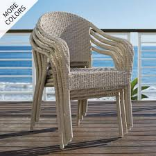 Wicker patio chairs Dining Cafe Curved Back Stacking Chairs Set Of Four Frontgate Wicker Patio Furniture Frontgate