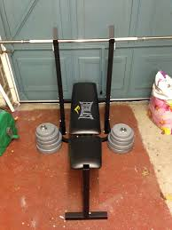 Everlast Bench Press And Weights  40kg Total  In East Boldon Everlast Bench Press