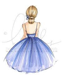Violet Fashion Illustration Print девушки рисунки рисунок