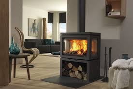 wood burning fireplace contemporary closed hearth 3 sided vidar triple by dik geurts