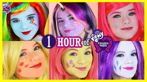 1 hour my little pony mane 6 makeup tutorials rainbow dash pinkie pie twilight sparkles kittiesmama