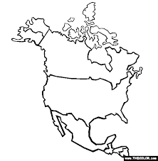 Small Picture North America Coloring Page Free North America Online Coloring