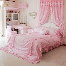 diaidi home textile princess ruffle bedroom set pink gingham bedding twinfullqueenking set past rustic bedding bedding