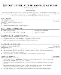 Entry Level Rn Resume Simple Sample Resume Nurses Spacesheepco