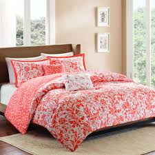 Bedroom: Interesting Decorative Bedding With Comfortable Coral ... & Coral King Comforter Set | Coral Comforter Set | Cheap Comforter Sets Queen Adamdwight.com