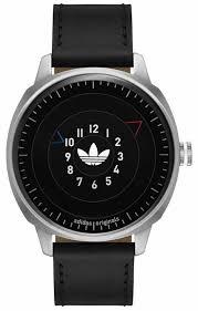 men s adidas san francisco black leather band watch adh3126