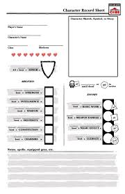 hero forge character sheet basic icrpg character record sheet middle kingdoms adventure