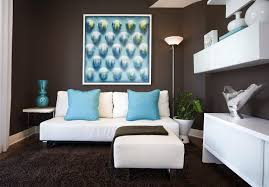 Living Room Extraordinary Brown And Blue Living Room Brown And