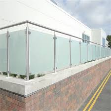 stainless steel glass railing custom tempered glass panels barade