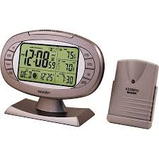 sharp weather station. sharp atomic weather station alarm clock t