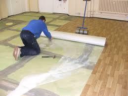 vinyl installation to a school kitchen fitting polysafe wood fx safety non slip flooring