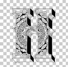 Mandala Ausmalbild Letter Coloring Book Alphabet Png Clipart