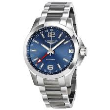 longines conquest gmt automatic blue dial mens watch l3 687 4 99 6 longines conquest gmt automatic blue dial mens watch l3 687 4 99 6