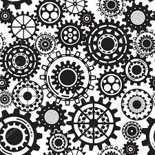 Steampunk Patterns Mesmerizing Black Gears Steampunk Seamless Pattern Stock Vector © AnutaBerg