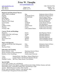 Musical Theatre Resume Musical Theatre Resume Theater Beste With The Template Audition 6