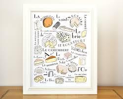 Kitchen Artwork French Craft Foods Gacraldine Adams