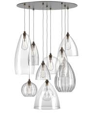 Glass <b>Mix</b> Cluster Ceiling Light - Staged - Hereford (industrial ...
