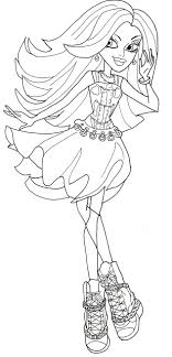 Small Picture Spectra Vondergeist Monster High Coloring Page Coloring Pages of