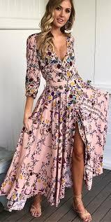 Vestido de flores rosa Maxi + sandalias <b>Nude</b> #summer #outfits ...