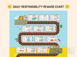 How To Do A Reward Chart Daily Responsibility Reward Chart For Kids Kids Routine Charts Kids To Do List Morning And Evening Checklist For Kids Chore Chart For Kids