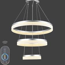 vallkin dimmable modern led ring pendant light acrylic circle led in modern acrylic pendant