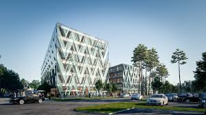 green office building. the building called forest offices debrecen and set to be completed in q3 2018 is designed by bord architect studio office leasing green certification