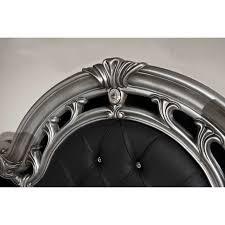 vig furniture italian classic 6 piece bedroom set black silver black and silver furniture