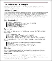 Sample Salesperson Resume Car Salesman Resume Car Sales Resume Sample Ideas Collection Auto