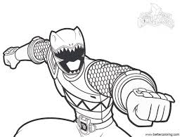 Powerrangers Coloring Pages For Kids With Green Ranger From Mighty