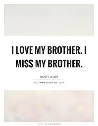 I Love My Brother Quotes Gorgeous I Love My Brother I Miss My Brother Picture Quotes