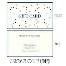 Gift Certificate Wording Print Gift Certificates Online Create 241747600106 Gift