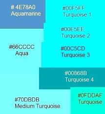 Colour Turquoise Colour Chart Teal Colour Restacoin Co