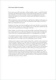 Job Resume Objective Statement Nfcnbarroom Com