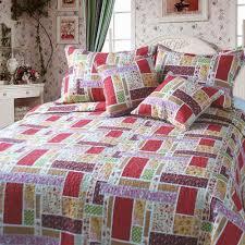 Amazon.com: DaDa Bedding DXJ103269 Colorful Cotton Patchwork 5 ... & Amazon.com: DaDa Bedding DXJ103269 Colorful Cotton Patchwork 5-Piece Quilt  Set, King, Red: Home & Kitchen Adamdwight.com