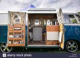 volkswagen van hippie interior. stock photo vw split screen volkswagen camper van interior at a show england hippie