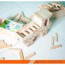 Hộp đồ chơi gỗ thông minh, Bộ thanh gỗ xếp hình phát triển trí tuệ cho mọi  lứa tuổi. Sản phẩm đã bao gồm hộp gỗ quà tặng